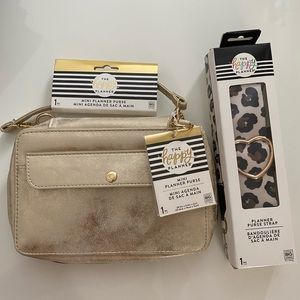 Happy Planner Mini Purse + Strap NWT